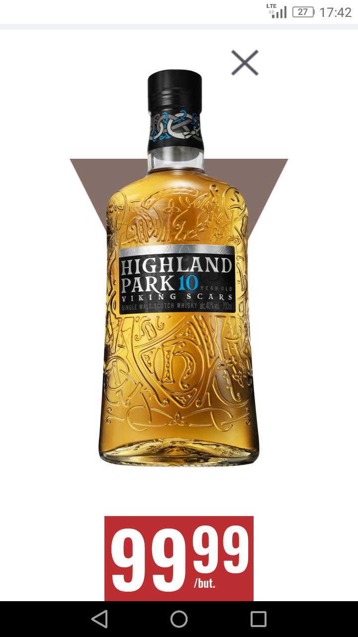 Whisky Highland Park 10-letnia w Biedronce