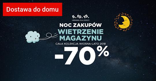 Noc zakupów WIETRZENIE MAGAZYNU -70%  5.10.15 !