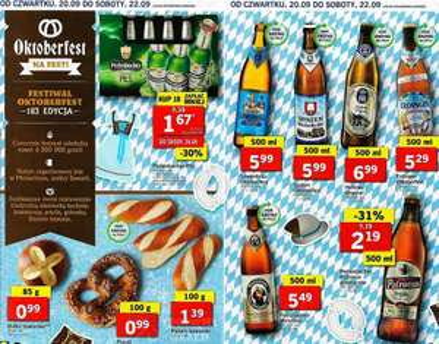 Piwa niemieckie: Perlenbacher: Pils (1,67zł), Patronus (2,19zł) i inne z wyższej półki @ Lidl