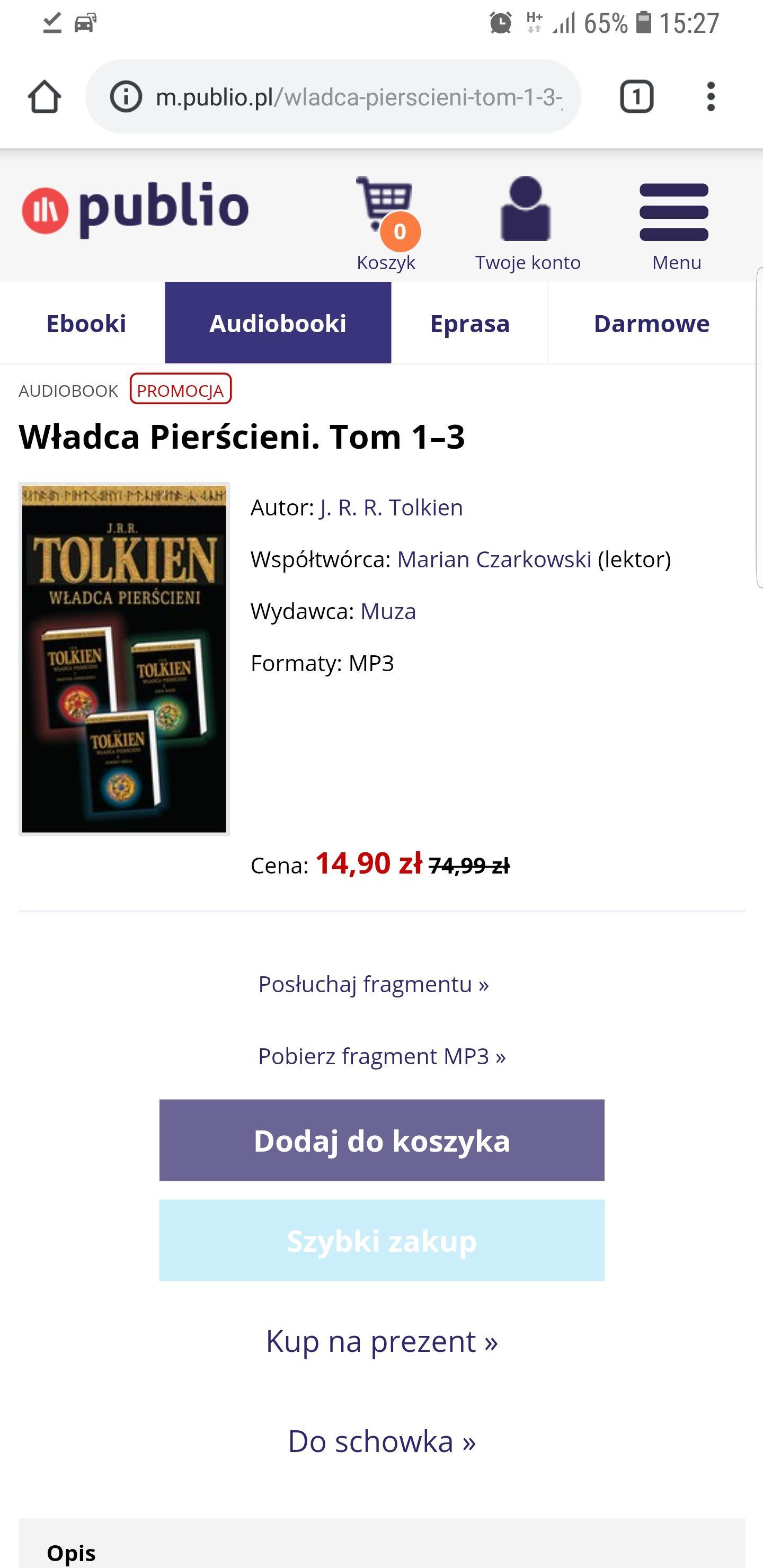 Audiobook Władca Pierścieni