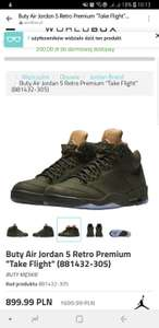 "Buty Air Jordan 5 Retro Premium ""Take Flight"" (881432-305)"