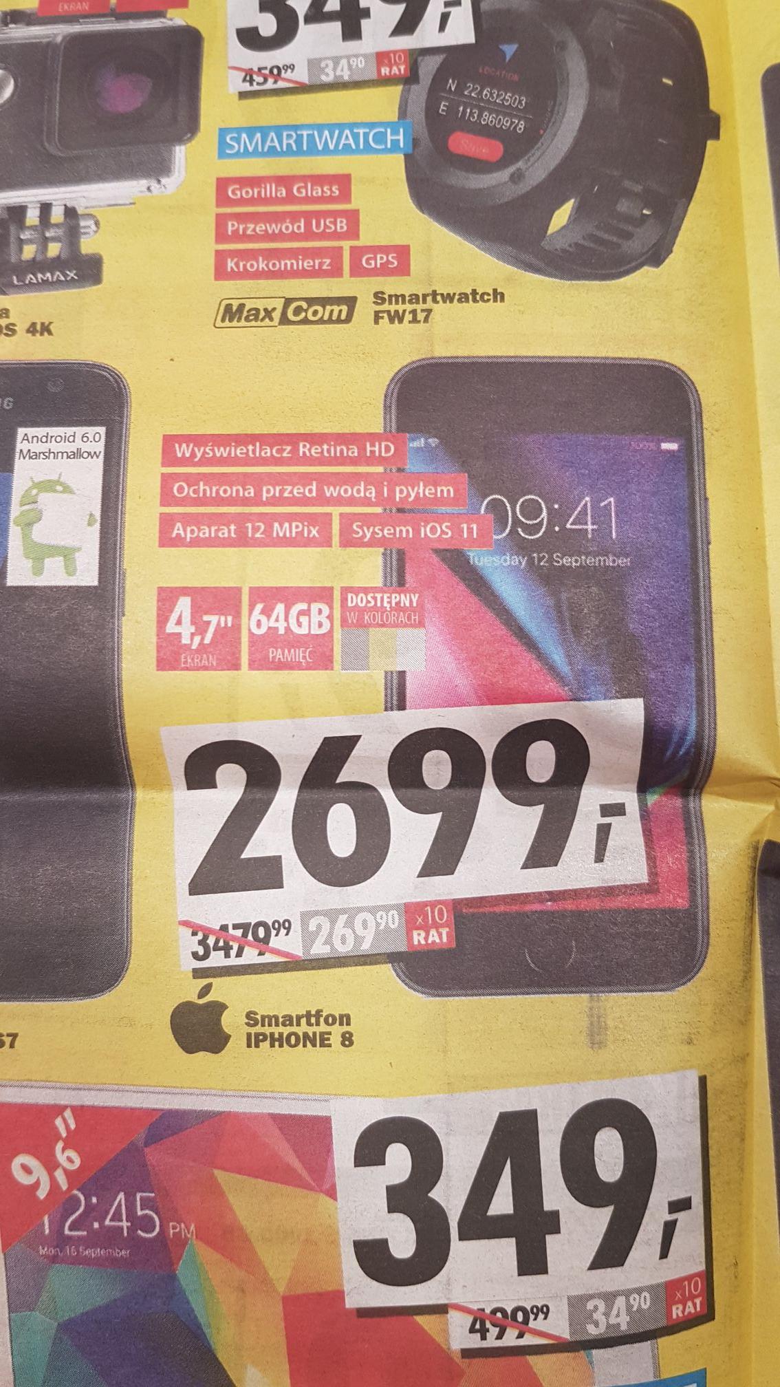 iPhone 8 w media expert (Gdańsk)