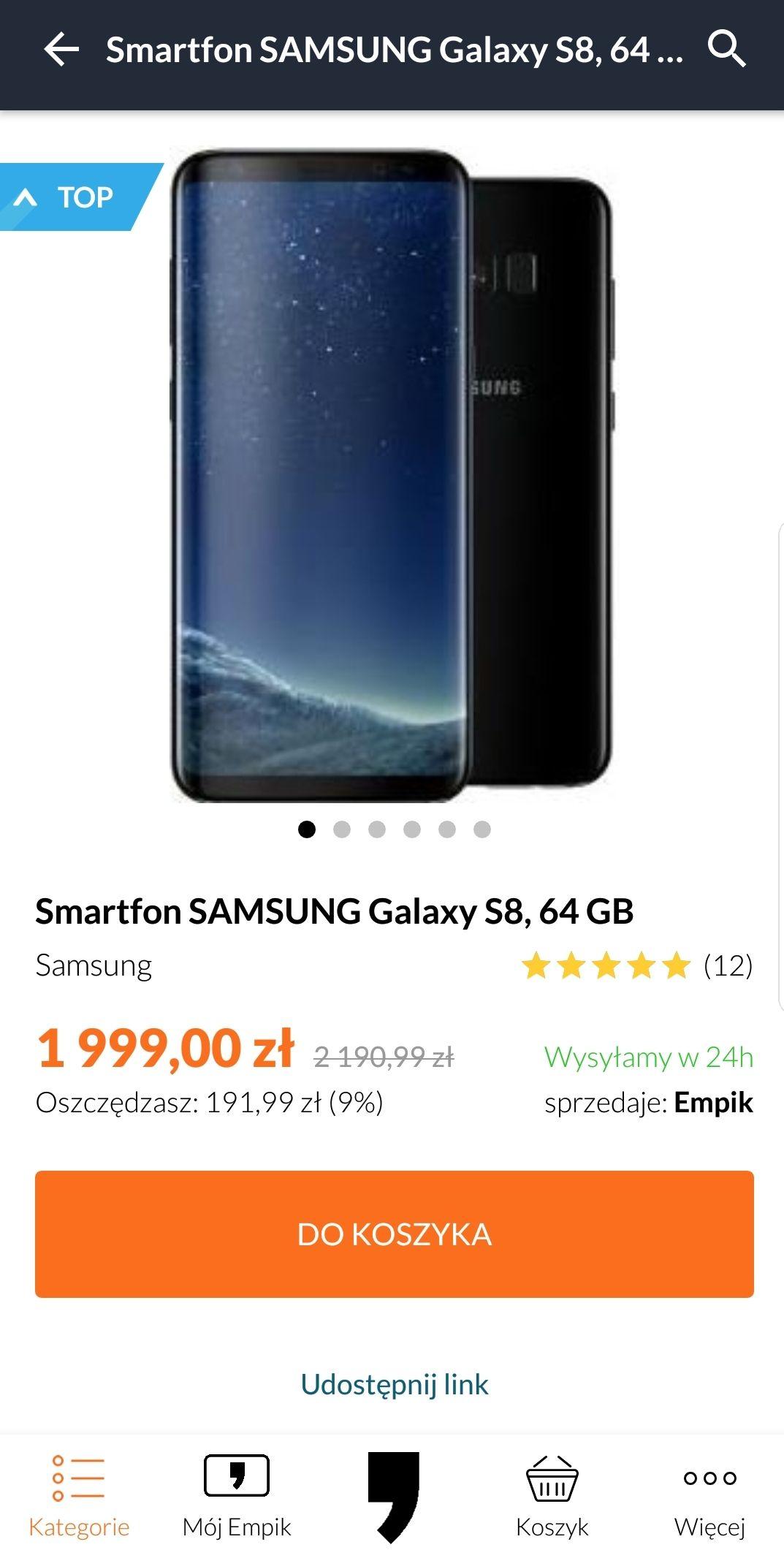 Samsung Galaxy S8 w Empik. Tylko dzisiaj.