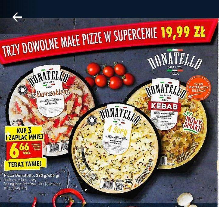 Pizza Donatello Biedronka, kup 3 i zapłać za sztukę 6.66 zł (+Guseppe)