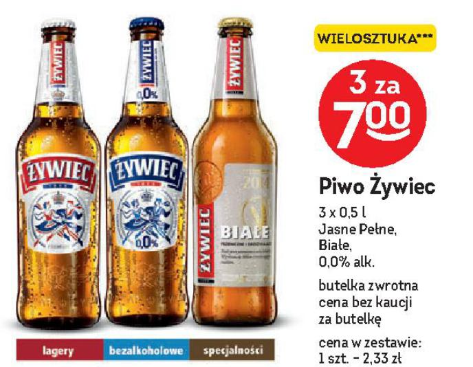 Żywiec 3 szt. za 7 zł (Białe, Jasne Pełne, 0,0% alk.) @Żabka