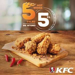 5 hot wings za 5zł we wtorki @ KFC