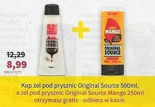 Żel pod prysznic Original Source Mango 250ml gratis do żelu 500ml @Rossmann