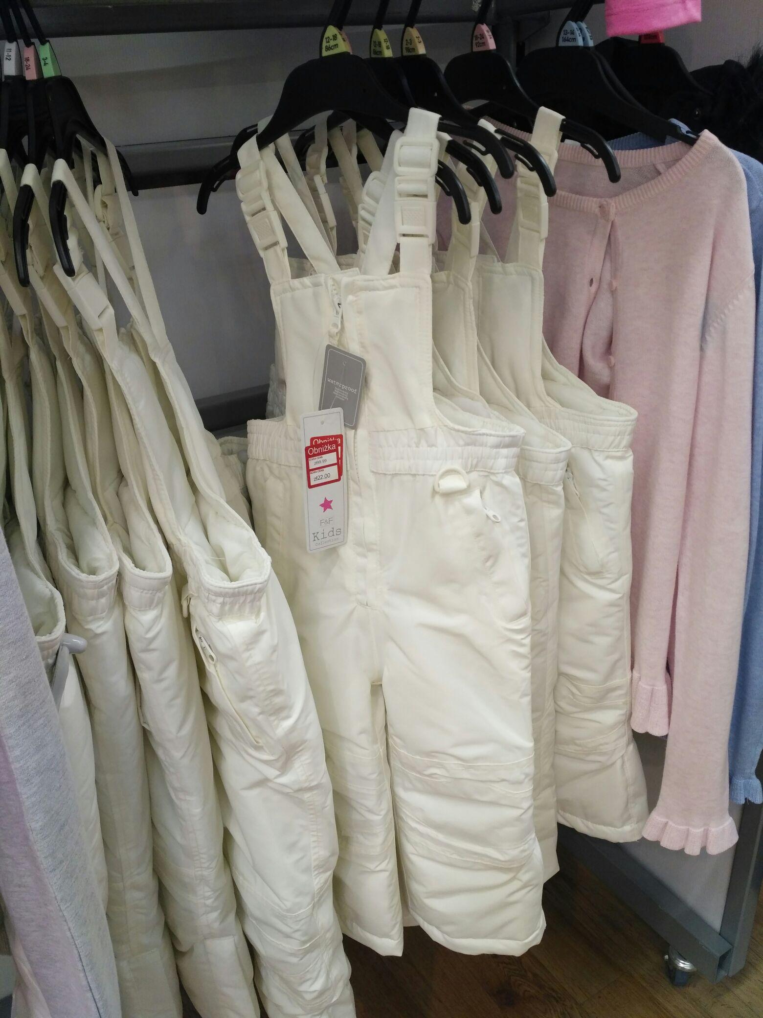F&F Tesco odzież dziecięca końcówka wyprzedaży + rabat -20%