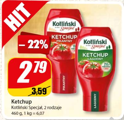 Ketchup Kotliński Specjał 460 g za 2,79 zł w DINO