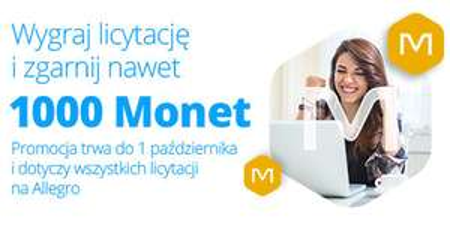 Nawet 1000 Monet na @allegro za wygranie licytacji