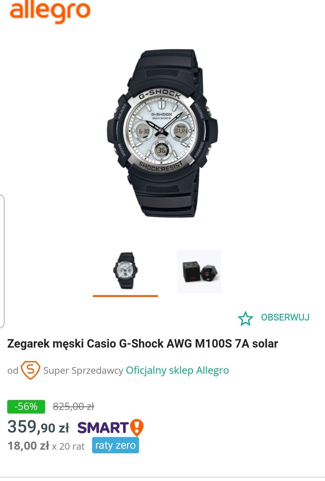 Casio G-Shock AWG M100S 7A solar