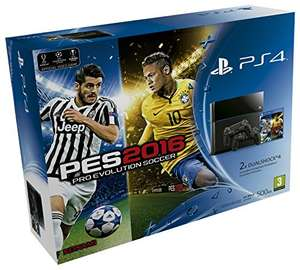 PlayStation 4 (500GB) + PES 2016 + 2 kontrolery za ok. 1770zł @ Amazon.es