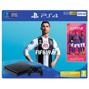NAJTANIEJ SONY PlayStation 4 Slim 500GB + Gra Fifa 19 Electro Avans Media Expert​​