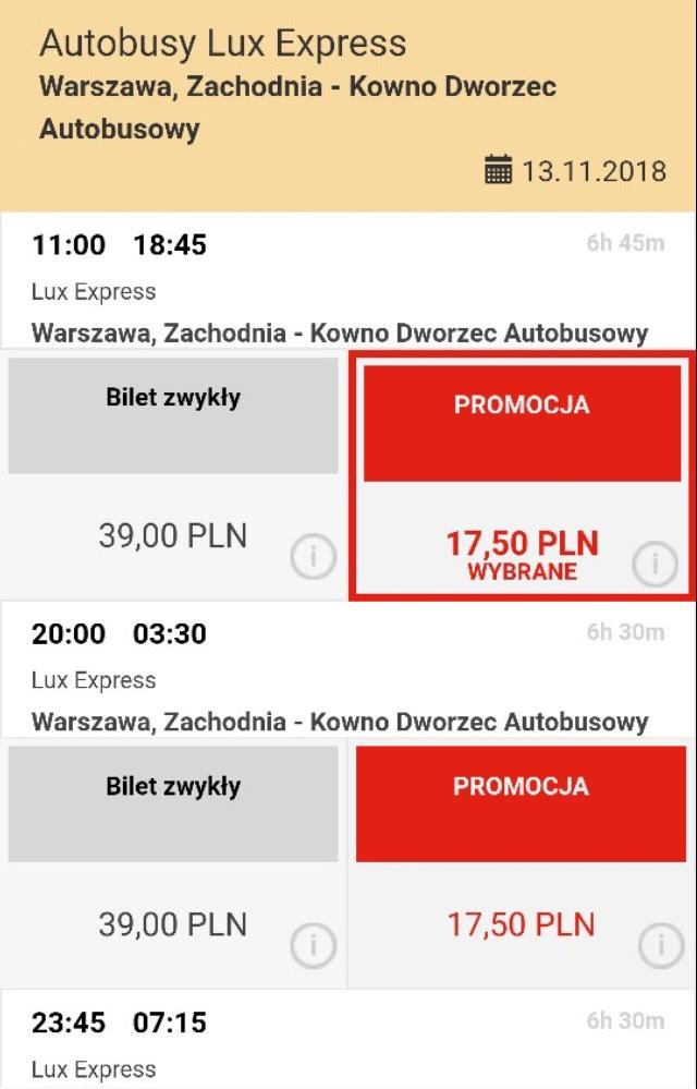 Bilety z Warszawy do Wilna/Kowna za 17,50!