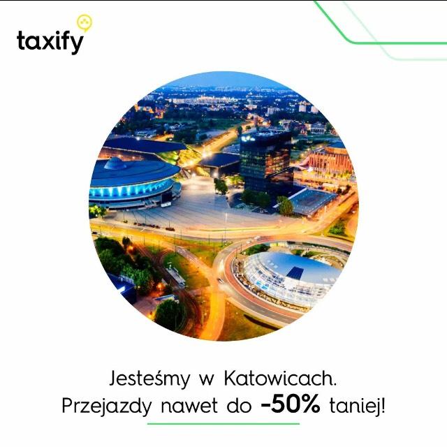 -50% na taksówki w aglomeracji śląskiej od Taxify.