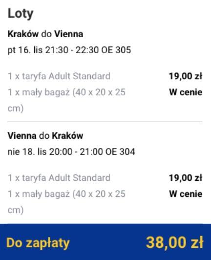 Tanie loty z Krakowa do Wiednia za 38 zł w dwie strony