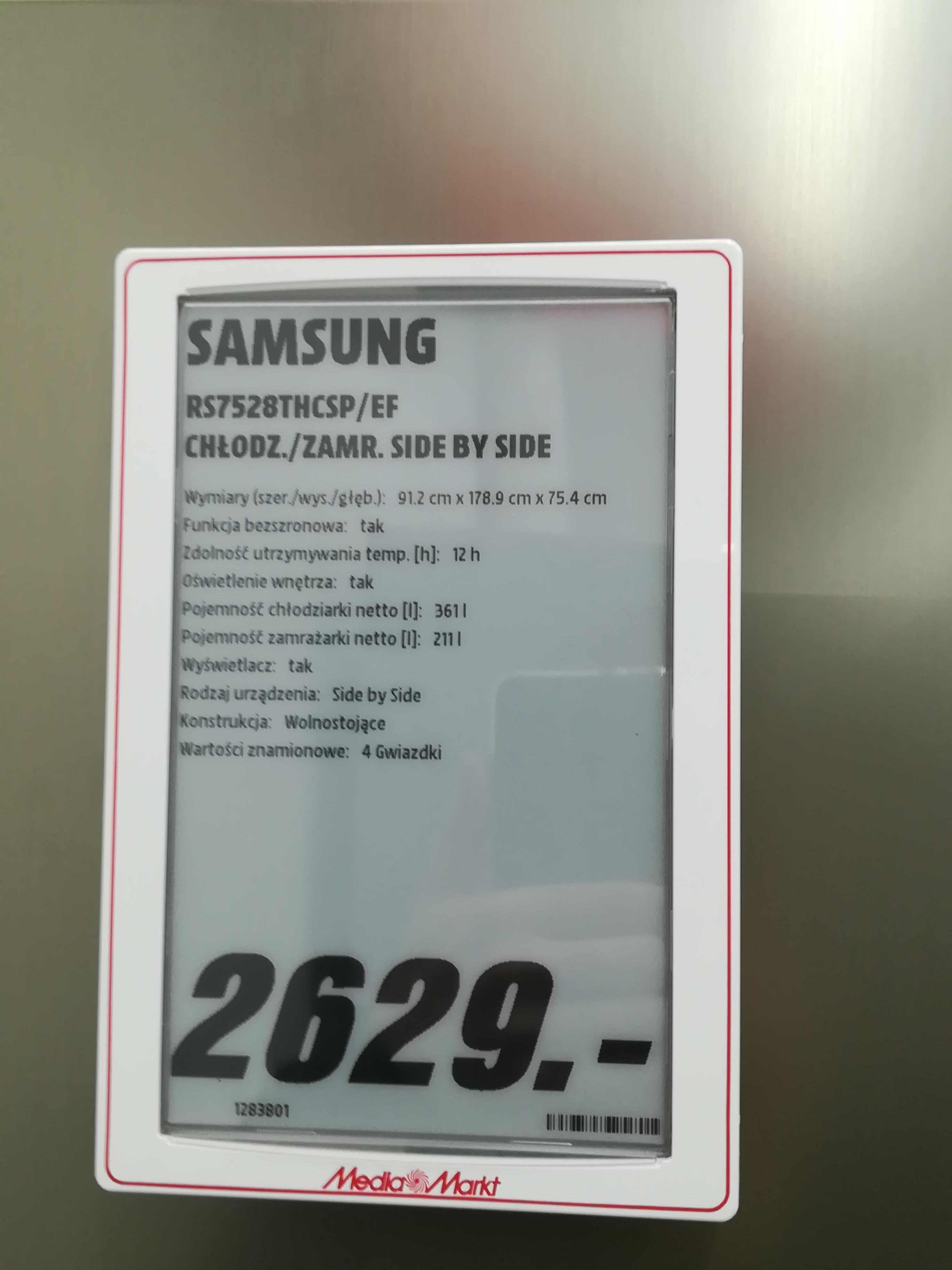 Lodówka side by side Samsung RS7528THCSP/EF  Katowice/Silesia/Media Markt