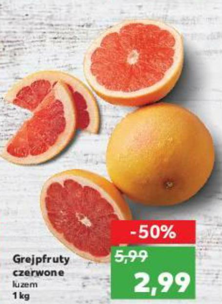 Grapefruit różowy (2,99 zł/kg) @Kaufland