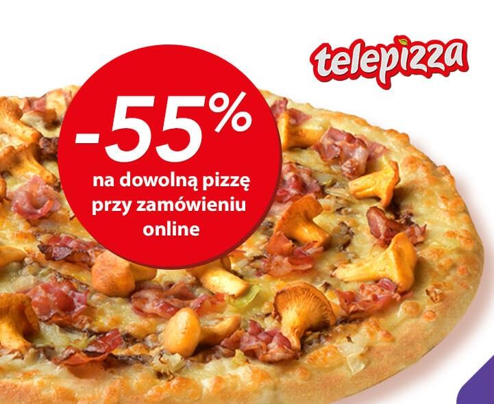 -55% na dowolną pizzę przy zamówieniu online @ Goodie