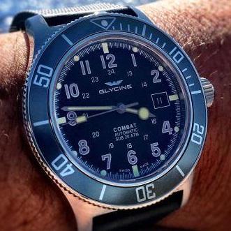 Zegarek Glycine Combat Sub - 20 wzorów, automat, szafirowe szkiełko