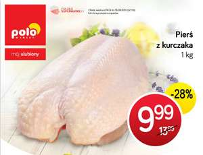 Pierś z kurczaka w cenie 9,99zł za 1kg - jeszcze tylko dziś @ POLOmarket