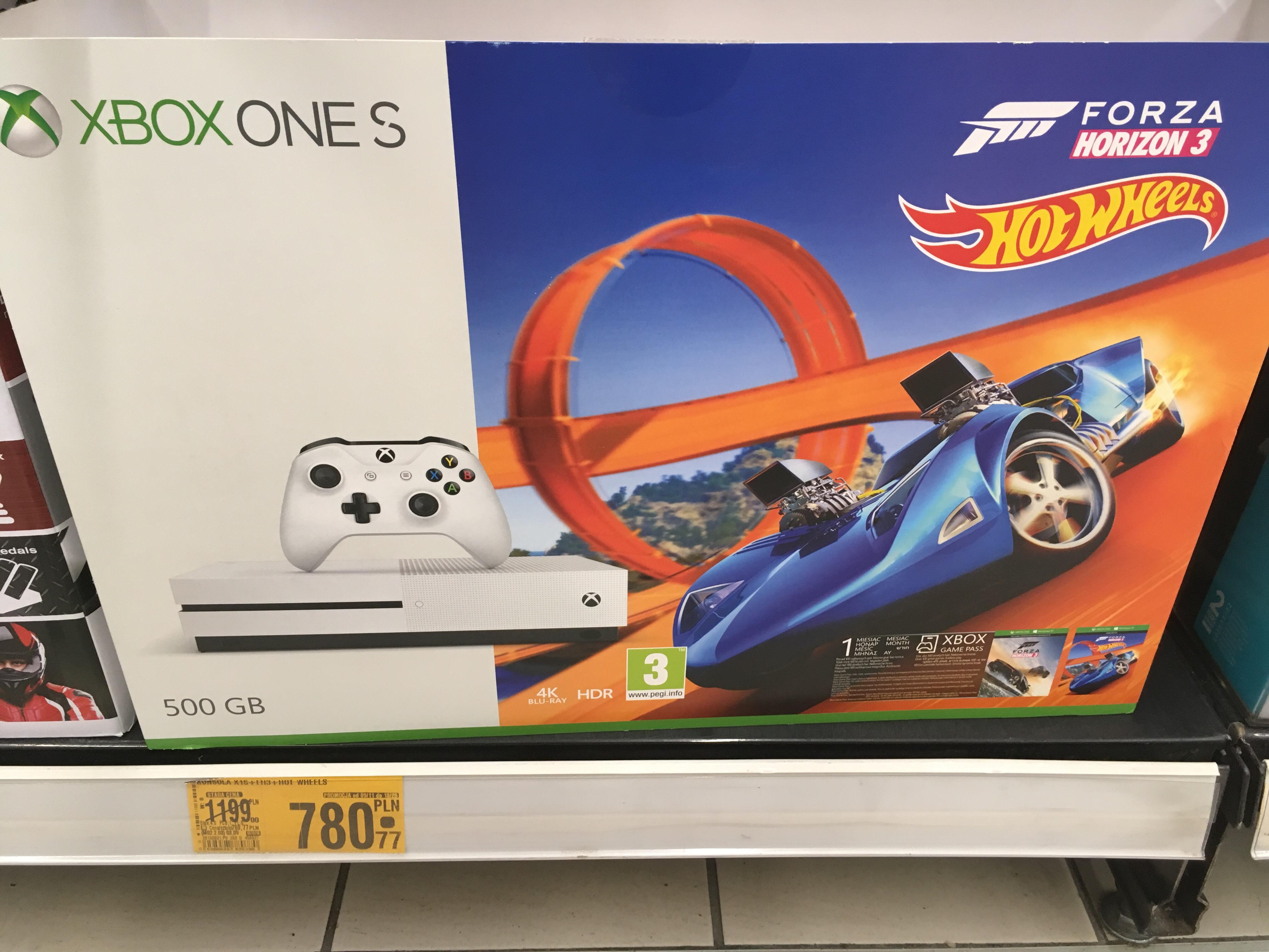Xbox one S 500GB +FH3 z dodatkiem