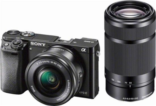 Aparat Sony A6000 i dwa obiektywy