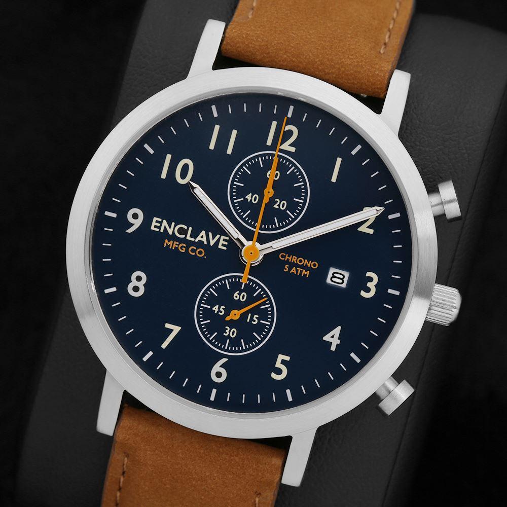 Zegarek Enclave Chrono - szafirowe szkiełko, 10 wzorów