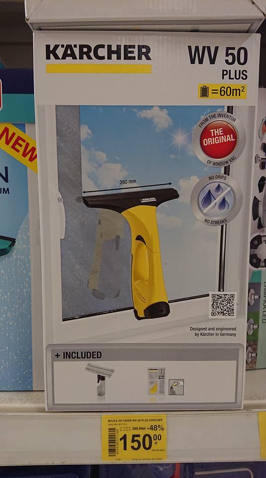 Do przedświątecznych porządków myjka do okien Karcher WV 50 plus Carrefour Market Katowice Belg