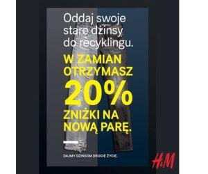 Oddaj dowolną parę jeansów i odbierz 20% rabat na nowe jeansy @ H&M