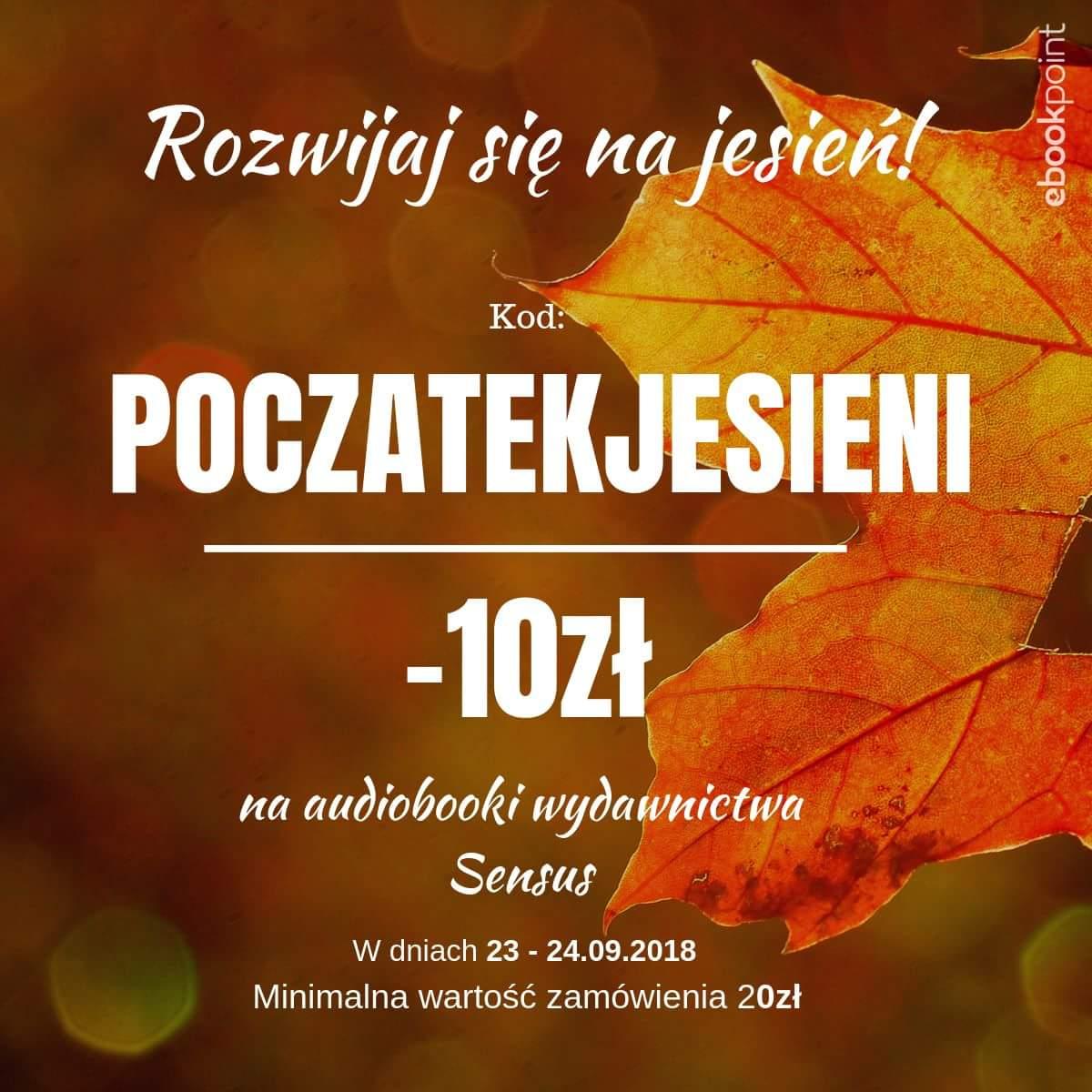 Audiobooki wydawnictwa Sensus 10 zł taniej (MWZ 20 zł) @ ebookpoint