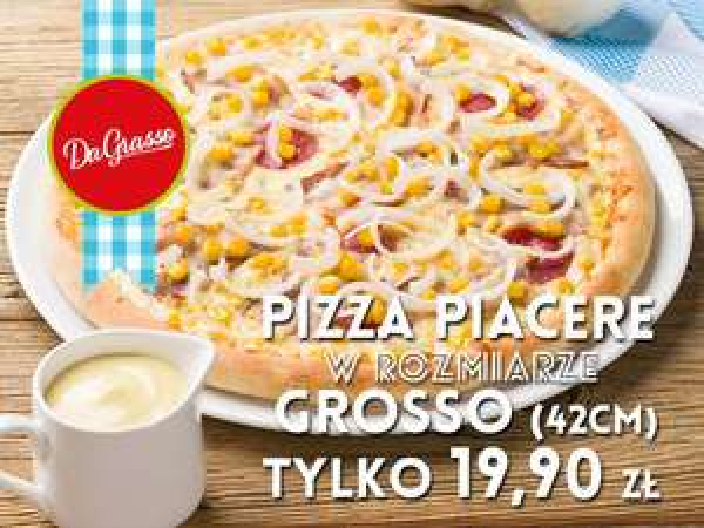 Rzeszów - Da Grasso Nowy Świat - Pizza Piacere (42 cm) - 19,90 zł
