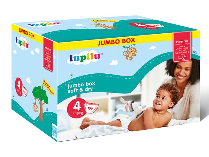 Pieluszki Lupilu Jumbo Box za 37,99zł + promocja na słoiczki @ Lidl