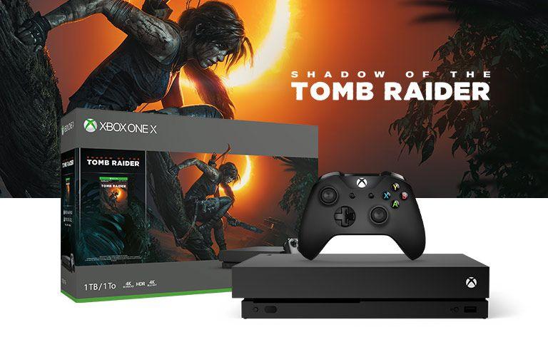Xbox one x 1 tb z nowym tomb raiderem i fifa 19 polski ms