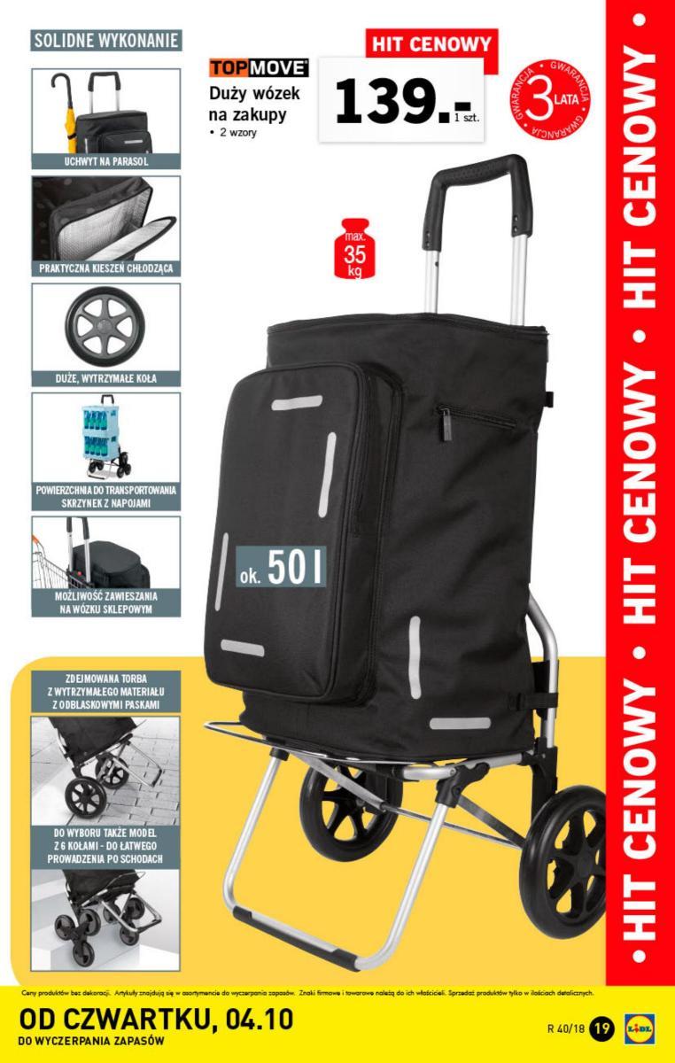 Duży wózek na zakupy LIDL