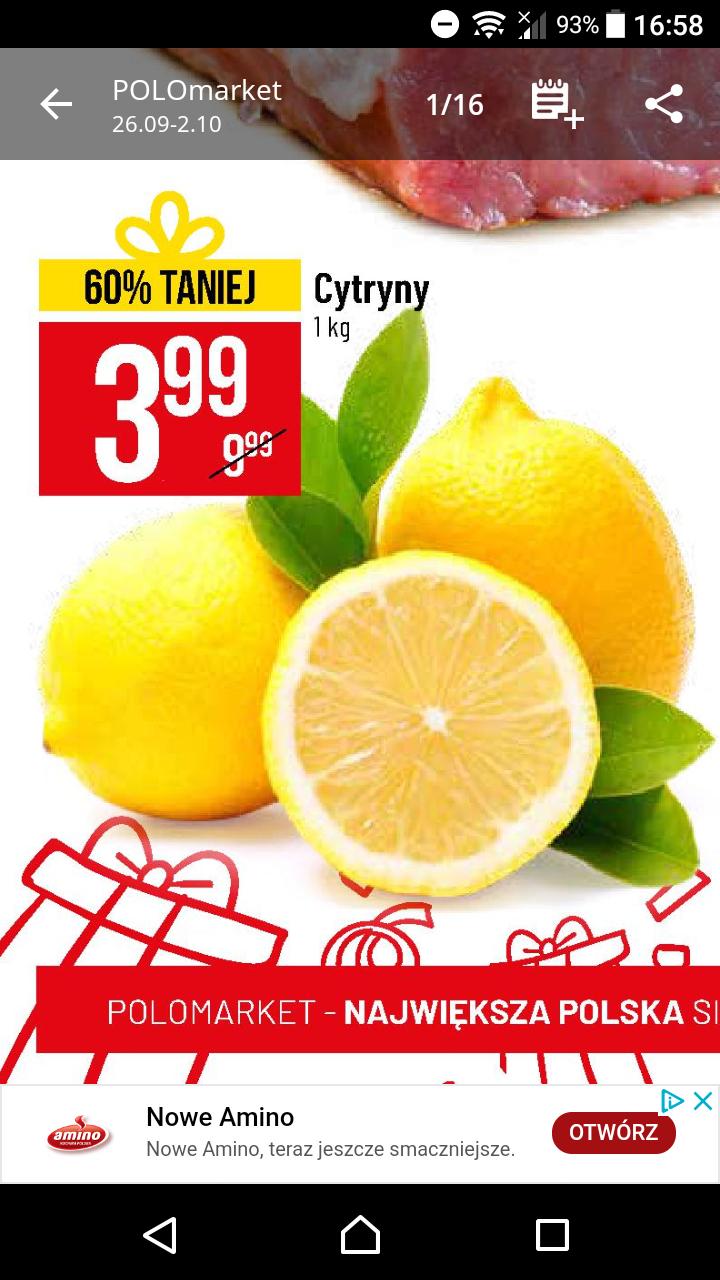 Polo market Cytryna za 3.99 zł 1kg