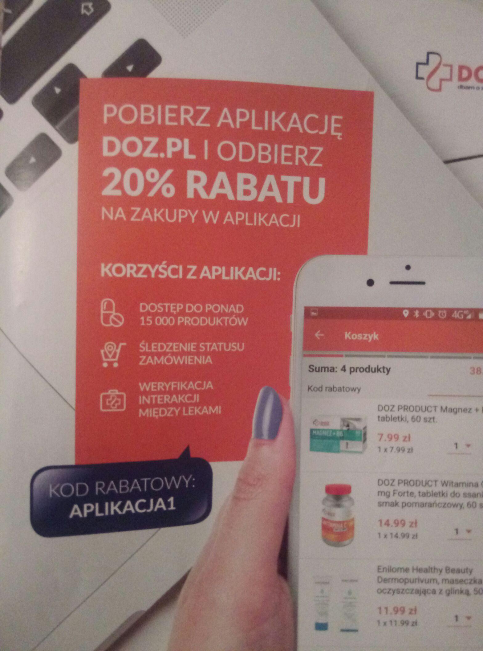 -20% w Aplikacji DOZ.PL