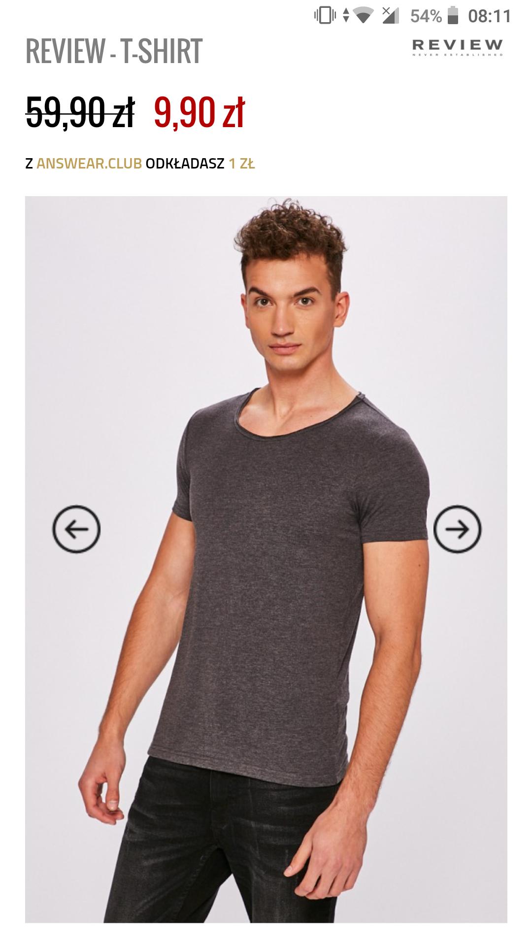 T-shirt męski Review 9.90 (z kodem 8.91!) ANSWEAR +darmowa dostawa