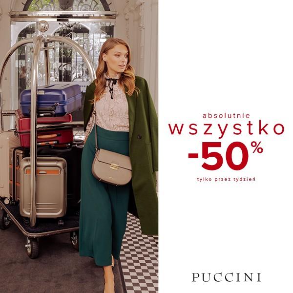 50% rabatu na produkty w cenach regularnych @ Puccini