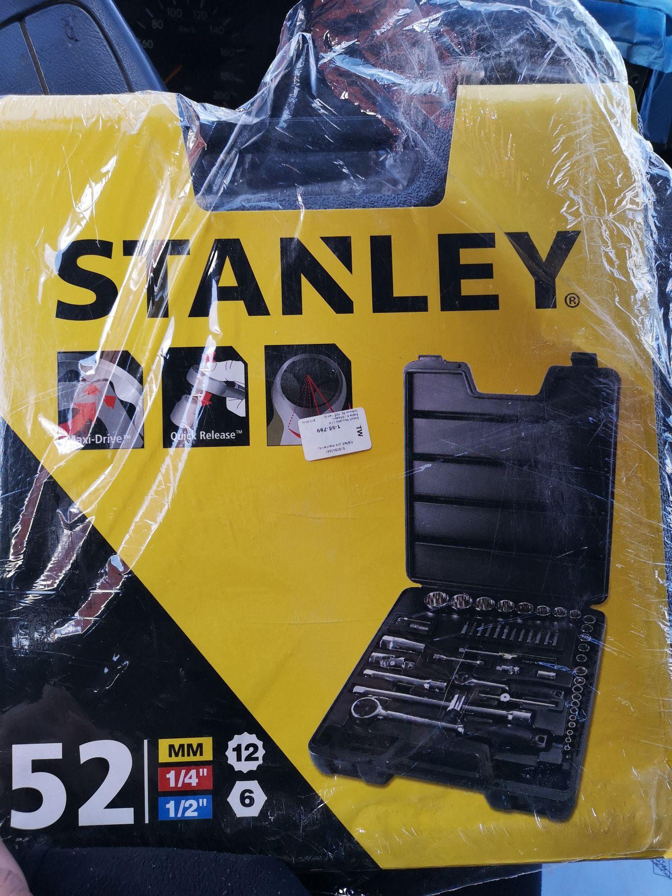 #Obi Zestaw Stanley 52 elementy kluczy nasadowych