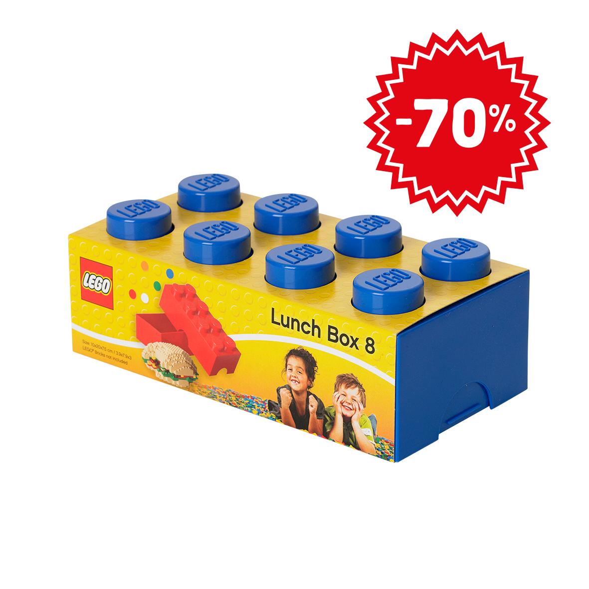 Lunchbox lego + gratis mały klocek pojemnik