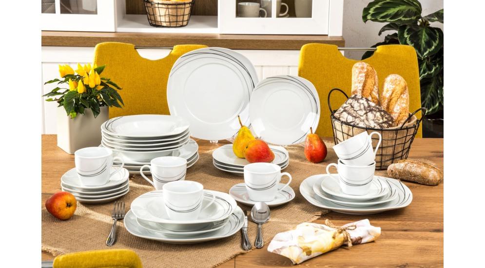 Porcelanowy zestaw obiadowo-kawowy za 87,20zł @ Agata Meble