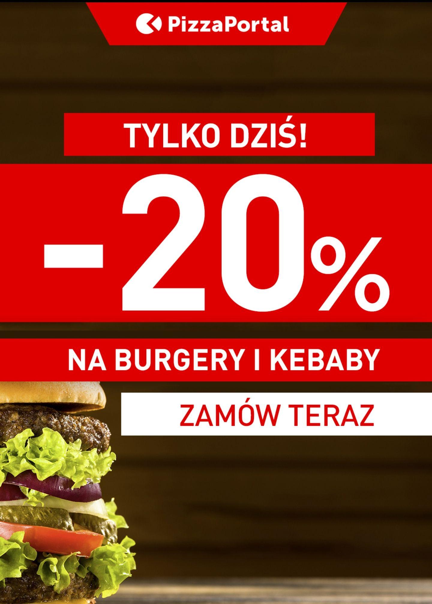 -20% na kababy i burgery na Pizza Portal