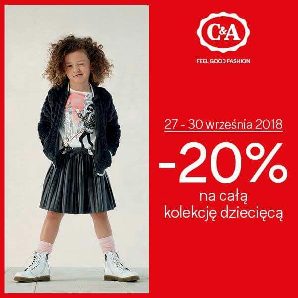 -20% na kolekcję dziecięcą i niemowlęcą (+dodatkowy rabat 20% Stylowe Zakupy) @C&A