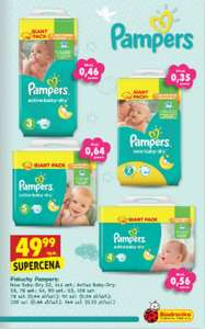 Giant Pack Pampers New i Active Baby-Dry w Biedronce 49,99zł