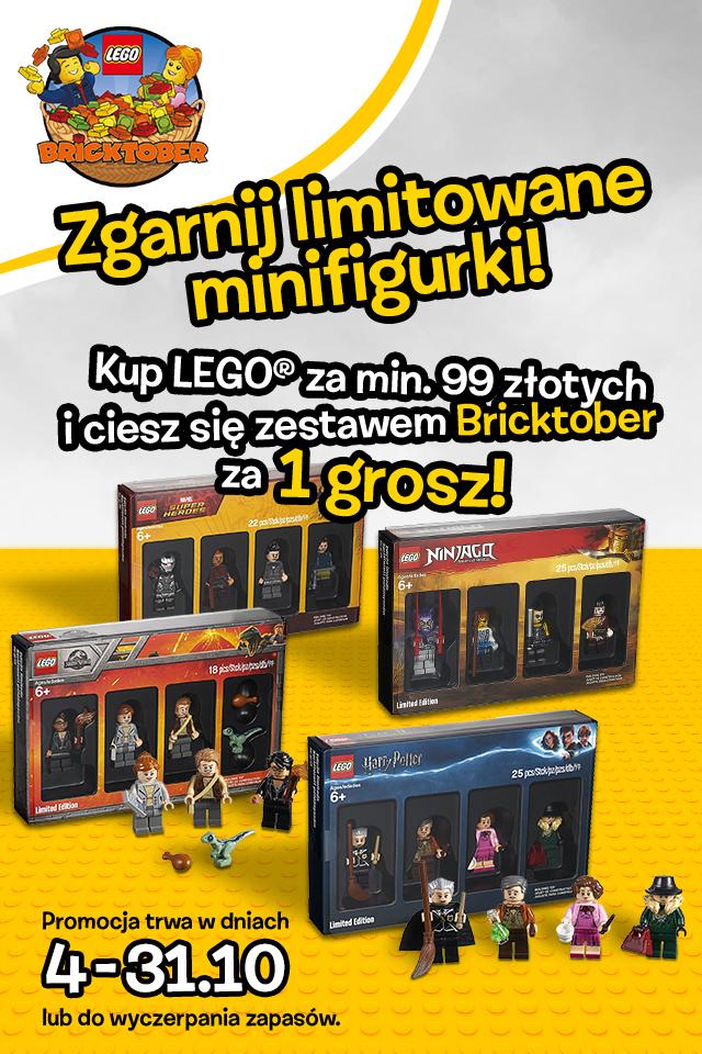 Limitowane minifigurki LEGO za 1gr (mwz 99zł)