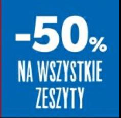Wszystkie zeszyty 50% taniej Kaufland