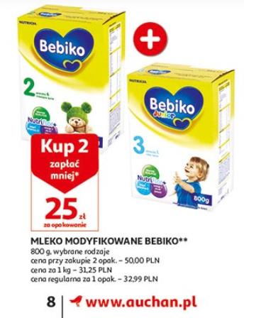 Mleko Bebiko 800g za 25zł przy zakupie dwóch sztuk @ Auchan