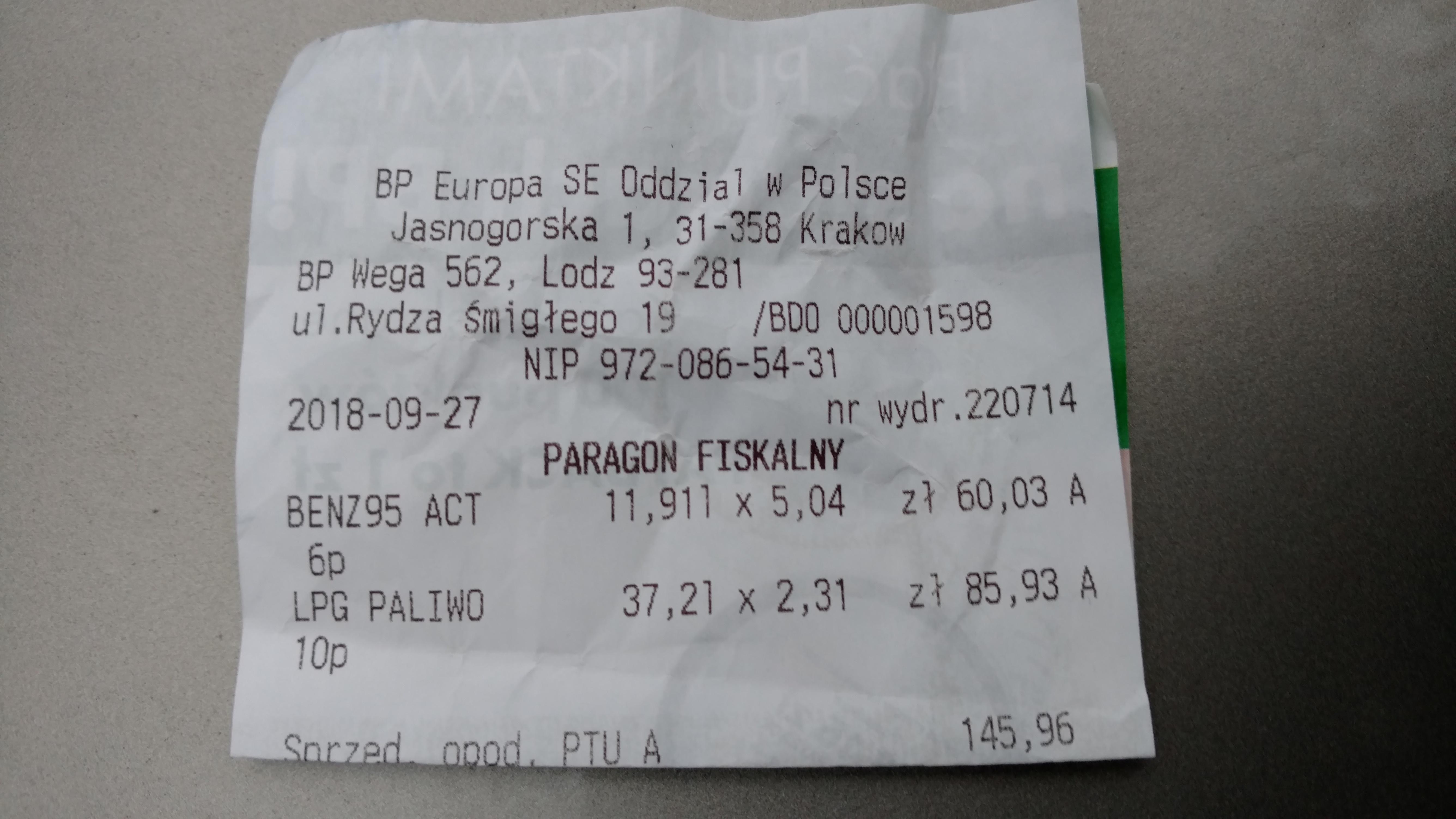 [BP] Niższe ceny paliw przy remontowanej Al. Śmigłego  Rydza - Łódź