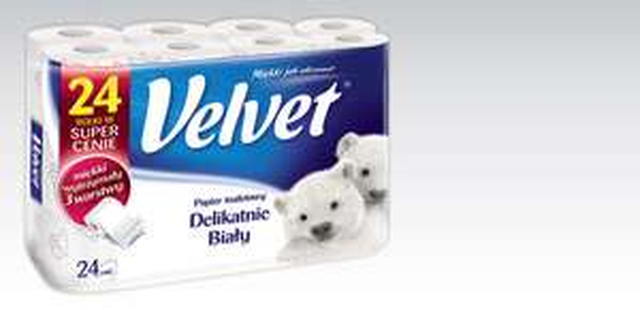 Papier toaletowy Velvet 24 rolki za 13,99zł @ Biedronka